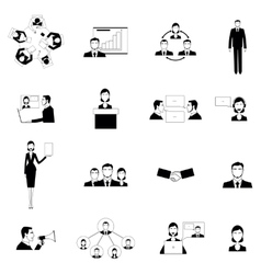 Business meeting flat icons set vector image vector image