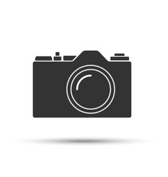 common slr camera icon sign isolated on white vector image