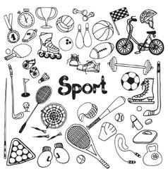 Doodle Sport Set vector image vector image