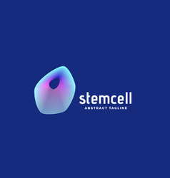 stem cell abstract sign emblem or logo vector image