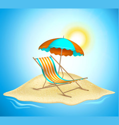 summer vacation realistic 3d poster vector image
