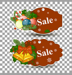 christmas balls sale special offer tag vector image