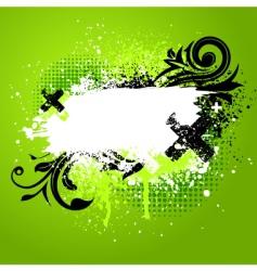 floral paint splatter vector image