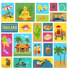 Thailand Tiled Poster vector image