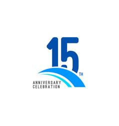 15 year anniversary celebration template design vector