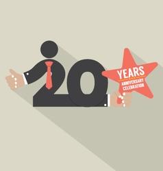 20 Years Anniversary Typography Design Illu vector image