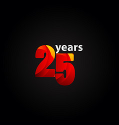 25 years anniversary red light template design vector