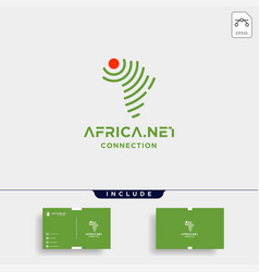 Africa signal logo design internet wifi symbol vector
