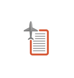 Aircraft letter list creative air design logo vector