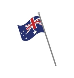 australia flag national pole icon vector image