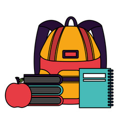 back to school flat design vector image
