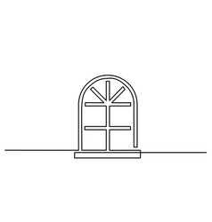 big window icon on white background vector image