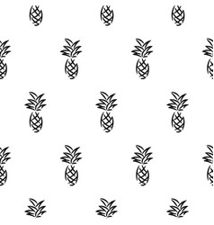 blouse shirt small pineapple on white seamless vector image
