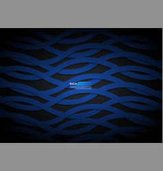 blue light arrow black with wavy mesh background vector image
