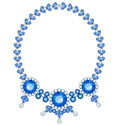 Blue necklace vector