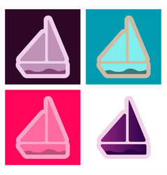 boat icon boat icon in trendy flat style vector image