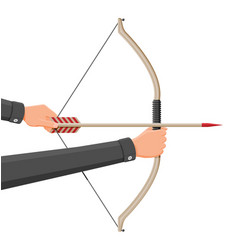 bow with arrows for shooting vector image