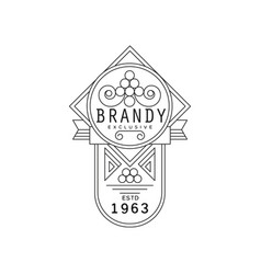 brandy vintage label design alcohol industry vector image