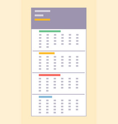 calendar dates and days isolated icon in flat vector image