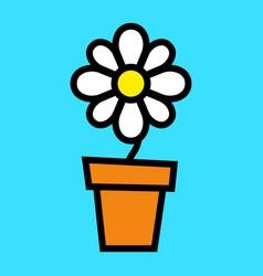 Cartoon flower vector