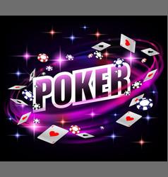 casino gambling poker background design poker vector image