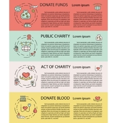 Charity and donation vector