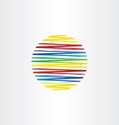 circle colorful line globe abstract background vector image