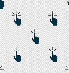 Click here hand icon sign Seamless abstract vector