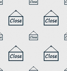 close icon sign Seamless abstract background with vector image