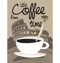 Coffee rome vector