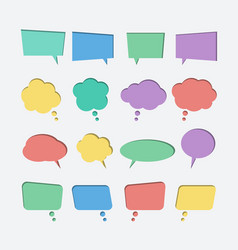 collection of color paper cut out speech bubble vector image