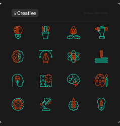 Creative thin line icons set vector