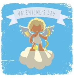 cupid on a cloud vector image