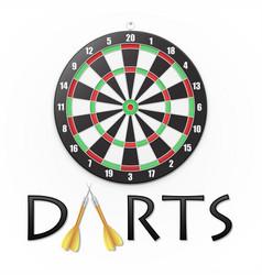 darts background vector image