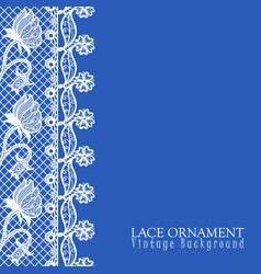 Decorative background with lace desig vector