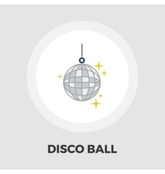 Disco ball flat icon vector