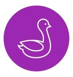 Duck line icon vector