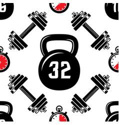 dumbbells heavy weight sport seamless vector image