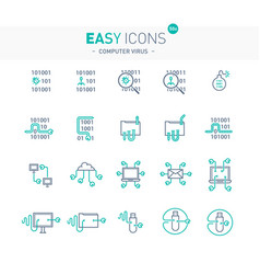 Easy icons 50e computer virus vector