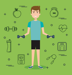 exercising people design vector image