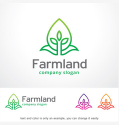 Farmland logo template design vector