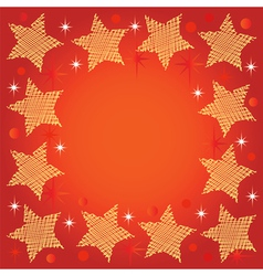 festive background with stars vector image