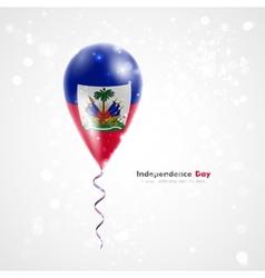 Flag of Haiti on balloon vector