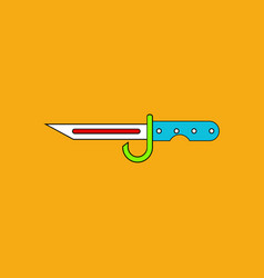 Flat icon design collection army bayonet knife vector