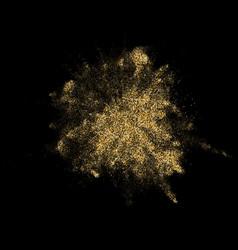 golden glitter powder paint explosion blast vector image