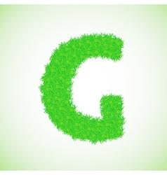 Grass letter G vector