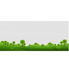 Green landscape isolated with transparent vector