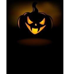 Grinning Halloween lantern vector