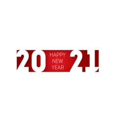happy new year 2021 horizontal banner brochure or vector image