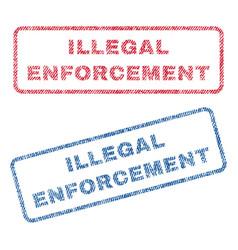 Illegal enforcement textile stamps vector